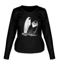 Женский лонгслив Доски для серфинга