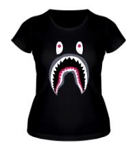 Женская футболка Напуганный монстр
