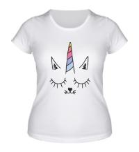 Женская футболка Котоединорог