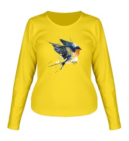 Женский лонгслив Birds