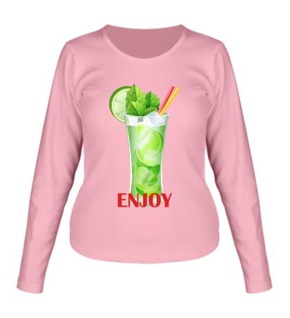 Женский лонгслив «Enjoy»