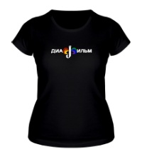 Женская футболка Диафильм