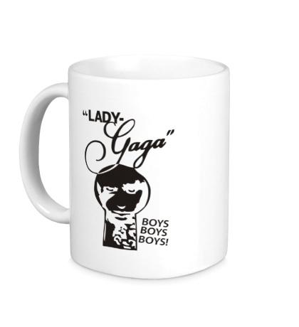 Керамическая кружка Lady Gaga: Boys, boys