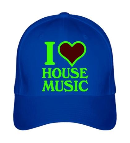 Бейсболка I Love House Music Glow