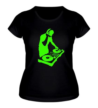 Женская футболка DJ Boy Glow