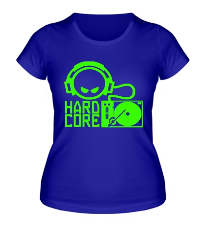 Женская футболка DJ Hard Core Glow