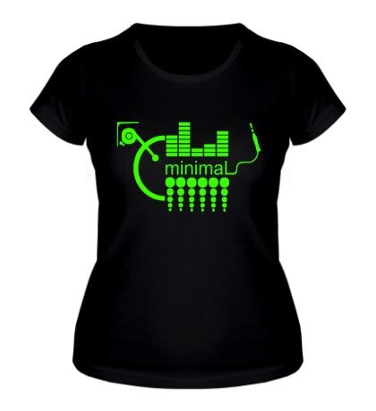 Женская футболка Minimal Equalizer Glow