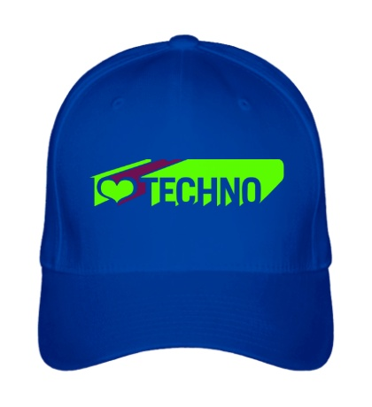 Бейсболка I love Techno Glow