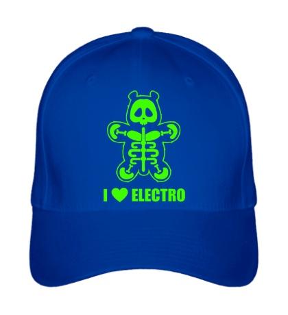 Бейсболка I love Electro Glow