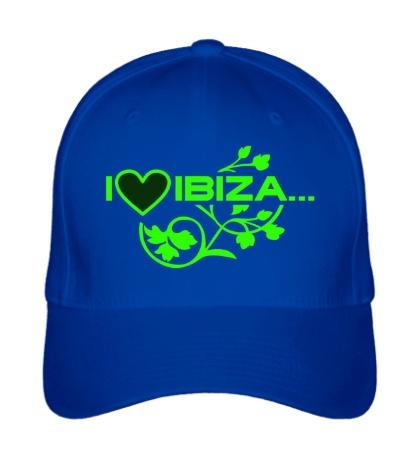 Бейсболка I love Ibiza Glow