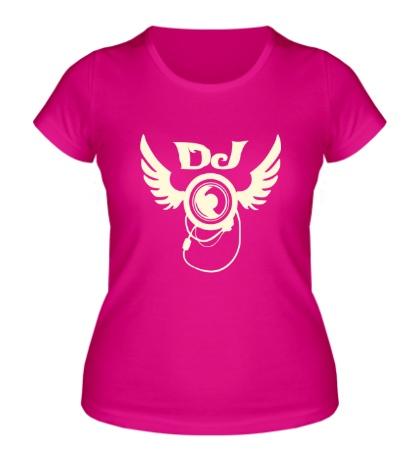 Женская футболка DJ Angel Glow