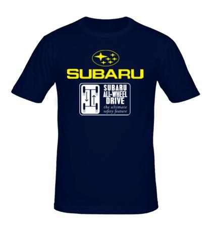 Мужская футболка Subaru Wheel Drive