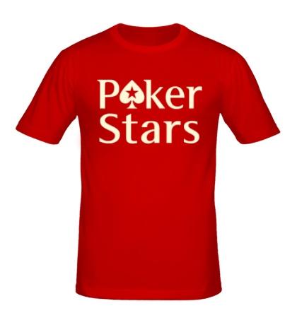 Мужская футболка Poker Stars Glow