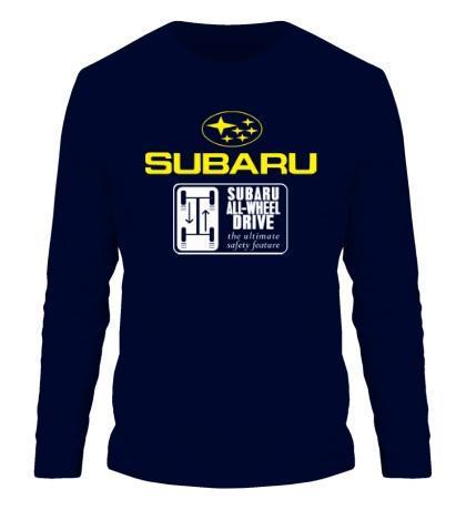 Мужской лонгслив Subaru Wheel Drive