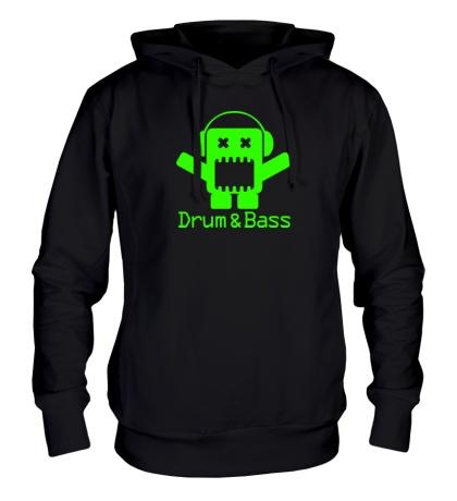 Толстовка с капюшоном Drum & Bass Box Glow