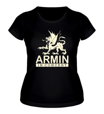 Женская футболка Armin in Concert Glow