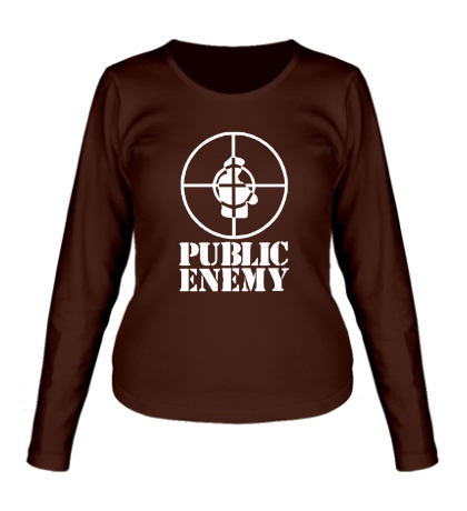 Женский лонгслив Public Enemy