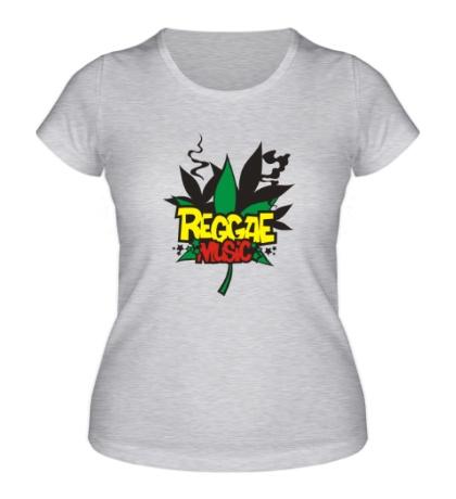 Женская футболка Reggae Music
