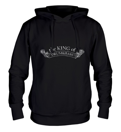 Толстовка с капюшоном The King of Drum&Bass