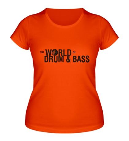 Женская футболка The World of Drum & Bass