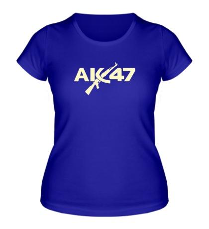 Женская футболка АК-47, свет
