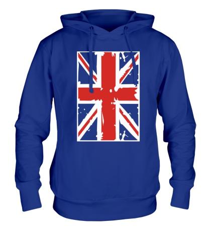 Толстовка с капюшоном Британский флаг