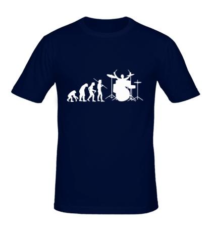 Мужская футболка Эволюция барабанщика