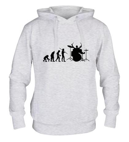 Толстовка с капюшоном Эволюция барабанщика