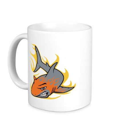 Керамическая кружка Огненная акула