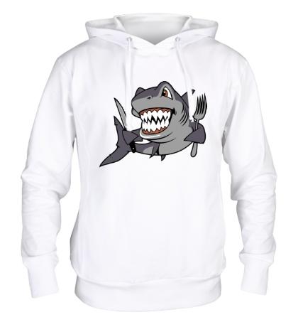 Толстовка с капюшоном Голодная акула
