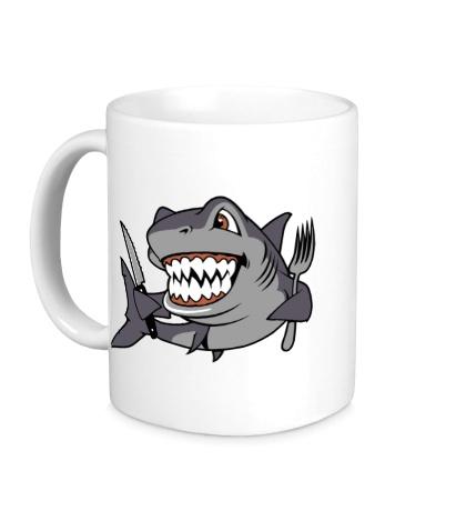 Керамическая кружка Голодная акула