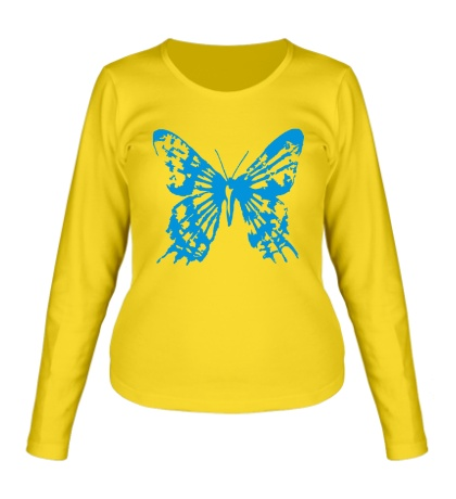 Женский лонгслив Бабочка