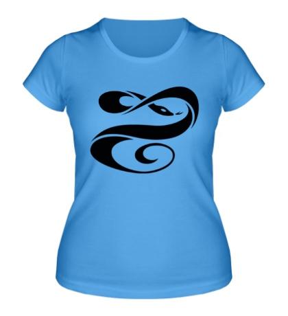 Женская футболка Кобра