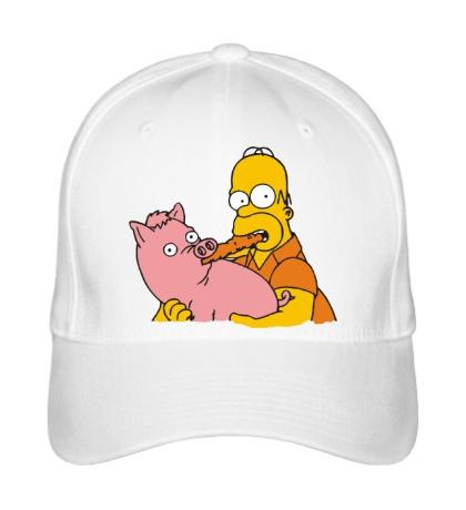 Бейсболка Гомер и свинья
