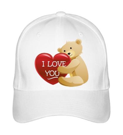 Бейсболка Медведь с сердцем