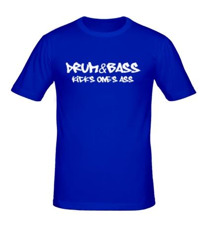 Мужская футболка Drum&Bass kicks ones ass