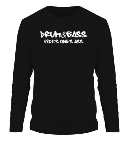 Мужской лонгслив Drum&Bass kicks ones ass
