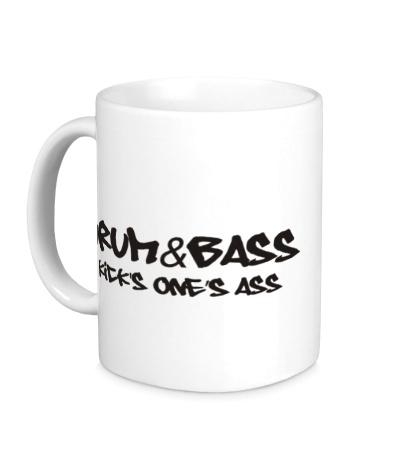 Керамическая кружка Drum&Bass kicks ones ass