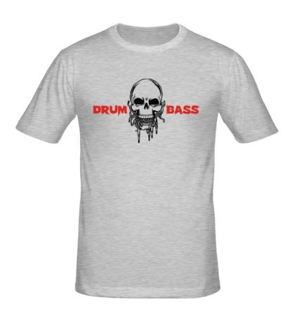 Мужская футболка Drum And Bass Череп