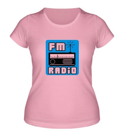 Женская футболка FM radio