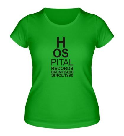 Женская футболка Hospital Rec