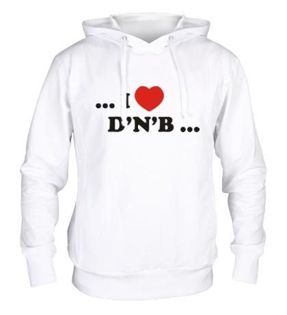 Толстовка с капюшоном I Love DnB