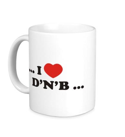 Керамическая кружка I Love DnB