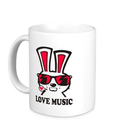 Керамическая кружка Rabbit Love Music