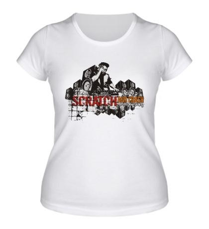 Женская футболка Scratch and crash