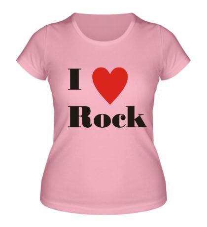 Женская футболка Я люблю рок
