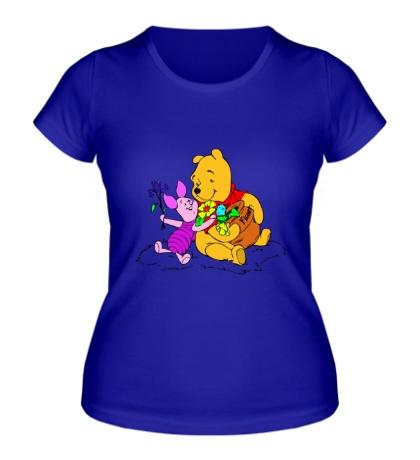 Женская футболка Винни пух и пятачок