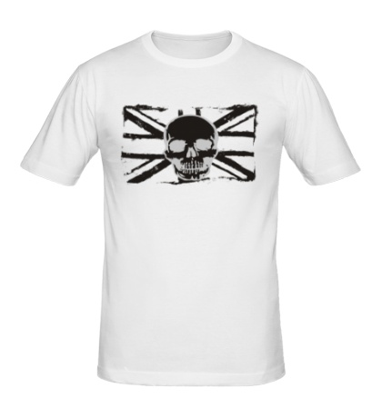 Мужская футболка Британский флаг с черепом