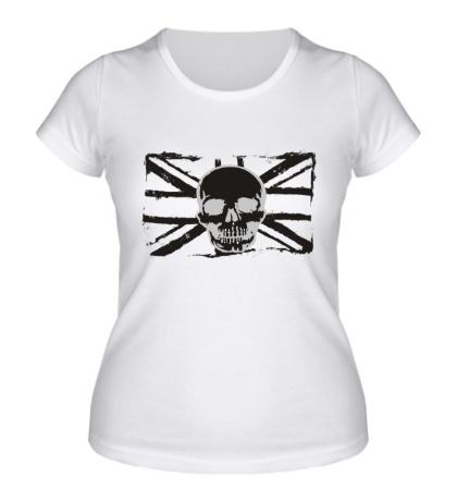 Женская футболка Британский флаг с черепом