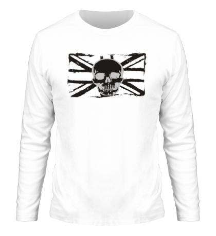 Мужской лонгслив Британский флаг с черепом